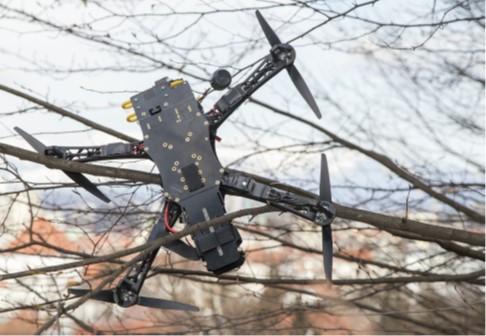 Crashed quadcopter